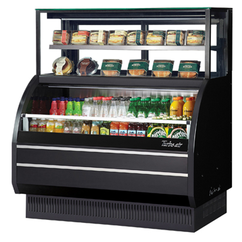 """Turbo Air TOM-W-60SB-UF-N 62.63""""W Open Display Merchandiser Combination Case with Refrigerated Top Shelf Combination Case"""