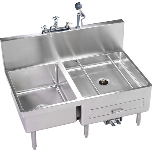 IMC TeDDy DL20-1 Combo Sink & Utensil/Can Washer Stainless Steel 16 Gauge