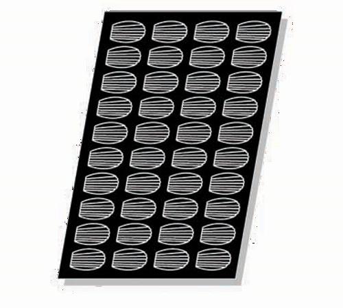 "Matfer Bourgeat 336017 Flexipan Madeleine Mold 40 Per Sheet 1 Oz. Cap. 3""L x 1-3/4""W x 3/4""H Food Grade Silicone"