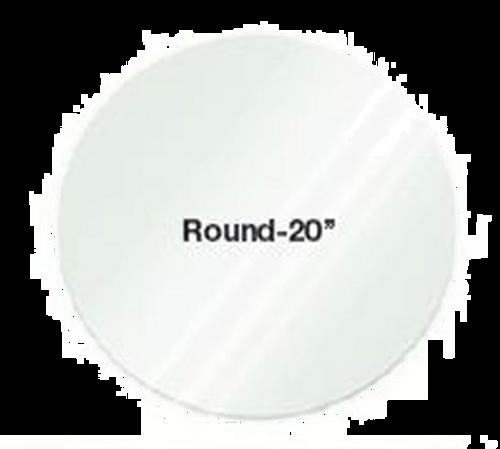 "Eastern Tabletop 0820G 20"" Round Clear Glass Riser Shelf"