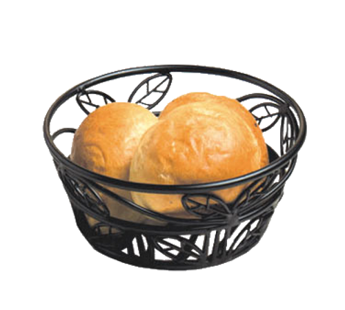 "American Metalcraft BLLB81  8""  Iron  Black  Round  Bread Basket"