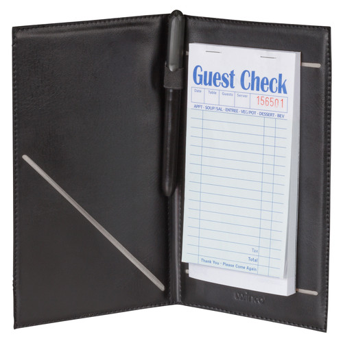 "Winco CHK-2K 5-1/4"" x 8-1/2"" Black Guest Order Holder"