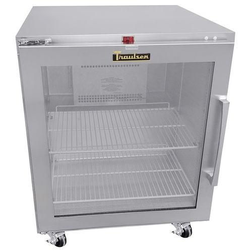 """Traulsen Uhg27R0-0420 27"""" W One-Section Glass Door Reach-In Dealer's Choice Compact Undercounter Refrigerator"""