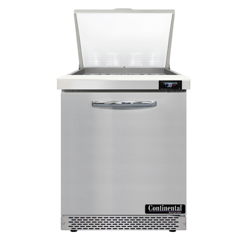 """Continental Refrigerator SW27N12M-FB 27.5"""" W One-Section One Door Mighty Top Sandwich Unit"""