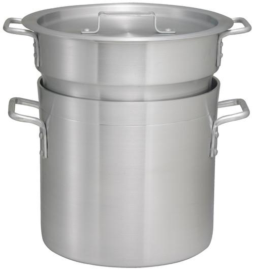 Winco ALDB-8S 8 Qt Double Boiler Steamer Set - 6 Each/Case