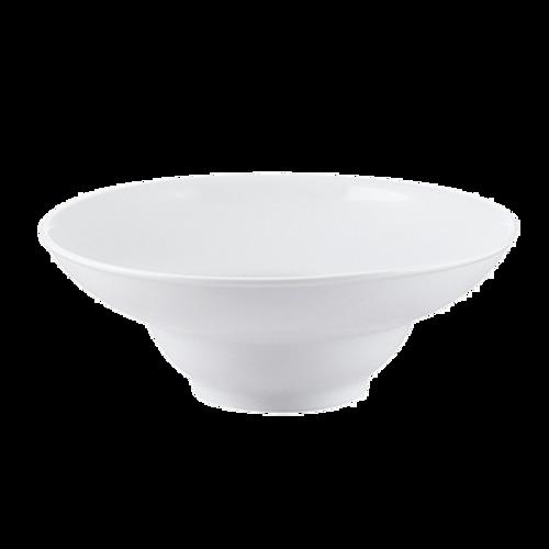 "CAC China RCN-408  8-1/4""  36 oz  Porcelain  Super White  Round  RCN Specialty Mediterranean Salad Bowl"