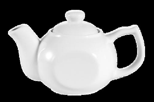 CAC China TPW-1 15 Oz Super White Porcelain Accessories Teapot - 3 Dozen/Case