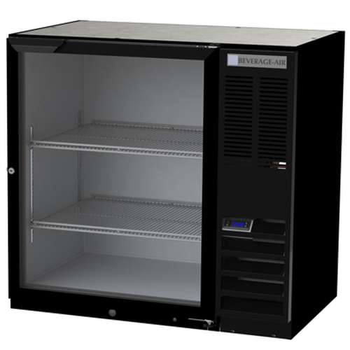 "Beverage Air BB36HC-1-G-S 36""W One-Section Glass Door Refrigerated Back Bar Storage Cabinet"