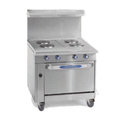 "Imperial IHR-2HT-2-E-M 36"" Gas Heavy Duty Range - 208 Volts"
