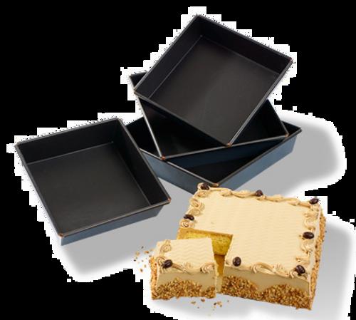 "Matfer Bourgeat  331664  7.75"" x 2""  Square  Steel  Exopan Cake Pan"