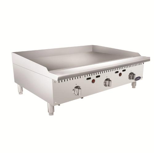 "Atosa ATMG-36T-LP 36"" Liquid Propane Countertop CookRite Heavy Duty Griddle - 75,000 BTU"