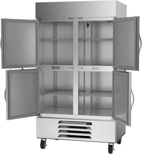 "Beverage Air HBR44HC-1-HS 47"" W Two-Section Solid Door Reach-In Horizon Series Refrigerator"