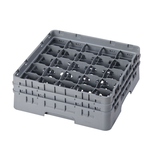 Cambro 25S434151 Camrack Glass Rack With (2) Soft Gray Extenders
