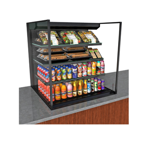 "Structural Concepts NE6035RSSV 59.75""W Reveal® Self-Service Refrigerated Slide In Counter Case"