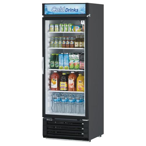 "Turbo Air TGM-22RV-N6 28.75"" W One-Section Glass Door Refrigerated Merchandiser"