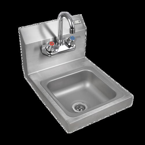 """John Boos PBHS-W-0909-P Pro-Bowl Hand Sink Wall Mount 12""""W x 14-1/2""""D x 12-1/4""""H"""