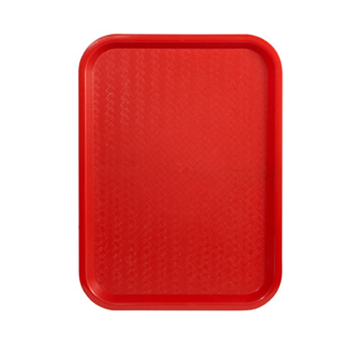 "Winco FFT-1418R 18""W Red Fast Food Tray"