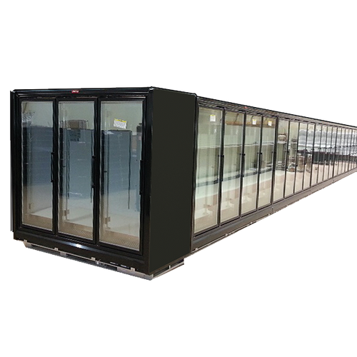 "Howard McCray RIN4-24-LED-B 102.38"" W Four-Section Glass Door Refrigerator Merchandiser"