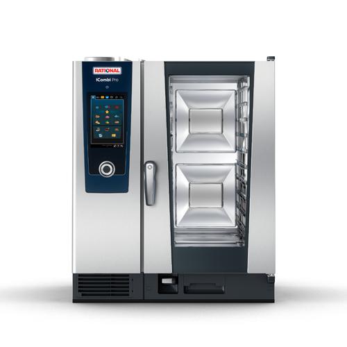Rational CD1GRRA.0000234 Natural Gas 10-Half Size Combi Oven - 83,500 BTU
