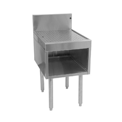 """Glastender DBHB-12-LD Stainless Steel Underbar Drainboard Half Cabinet - 12""""W x 24""""D"""