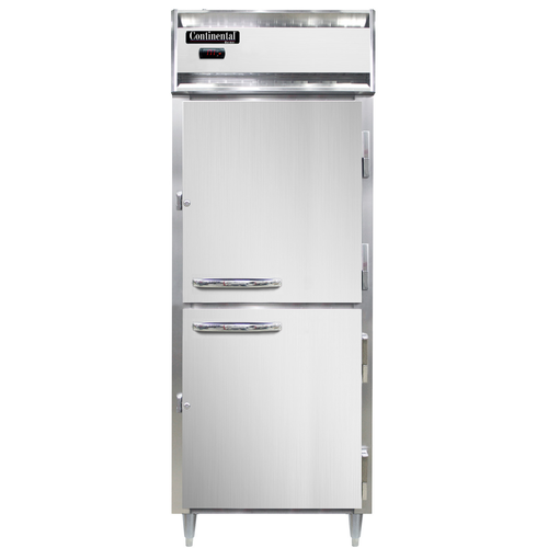 """Continental Refrigeration DL1WE-SS-HD Designer Line Heated Cabinet Extra Wide Reach-In 28"""""""