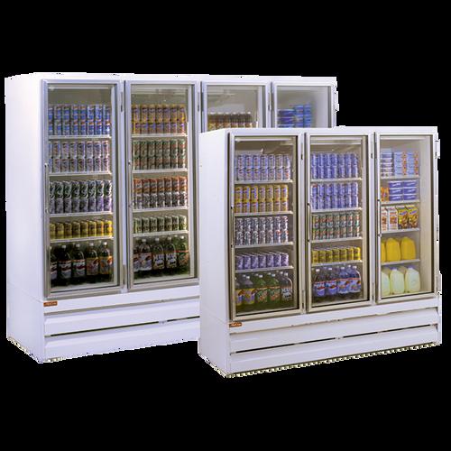 "Howard McCray GR102BM-B 103.75"" W Four-Section Glass Door Refrigerator Merchandiser"
