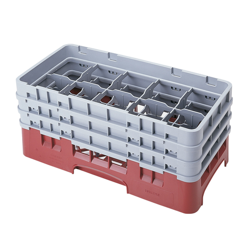 Cambro 10HS638416 Camrack Glass Rack With (3) Soft Gray Extenders