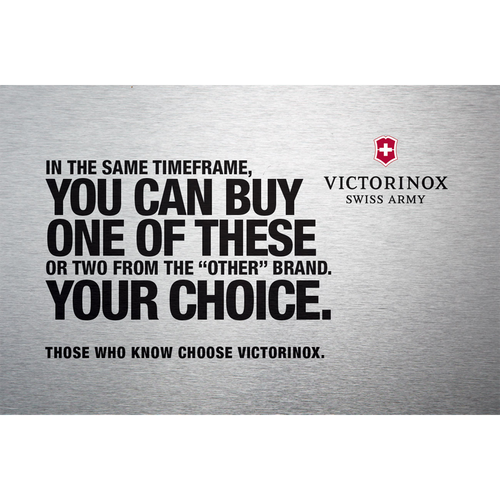Victorinox Swiss Army VCCS14024 Campaign Sign Insert Card
