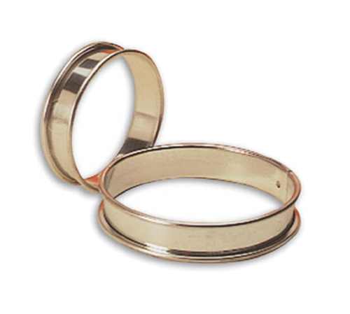 "Matfer Bourgeat 371617 11"" ID x 3/4""H Stainless Steel Round Tart Ring"