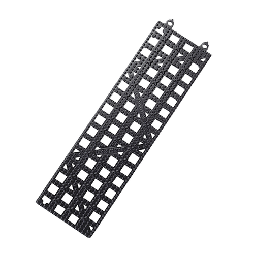 "San Jamar VM5180BK 3-1/2"" x 12"" Strips Bar Mat"