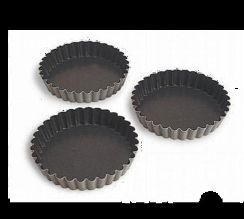 """Matfer Bourgeat  331612  3.75"""" x 0.63""""  Round  Steel  Exopan Tartlet Mold - 1 Pack"""