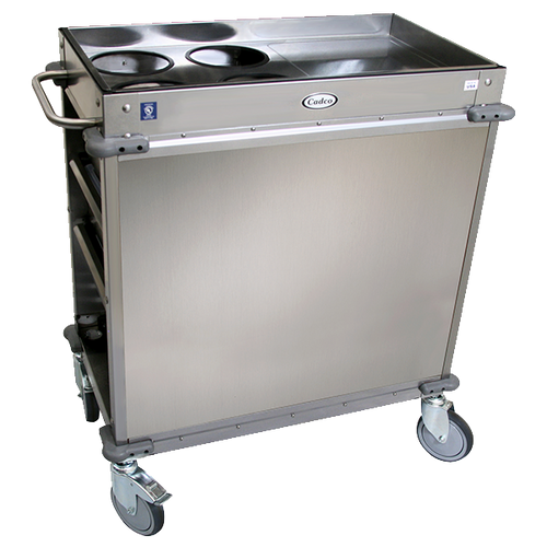 Cadco BC-2-LST Mobile,Serv Beverage Cart Standard (4) airpot wells