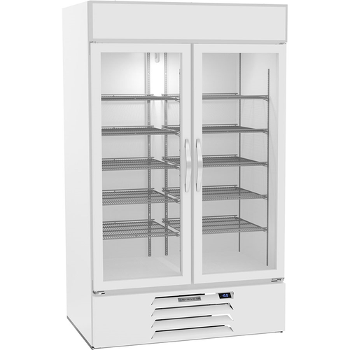 "Beverage Air MMF44HC-1-W-IQ 47""W Two-Section Glass Door MarketMax™ Freezer Merchandiser"