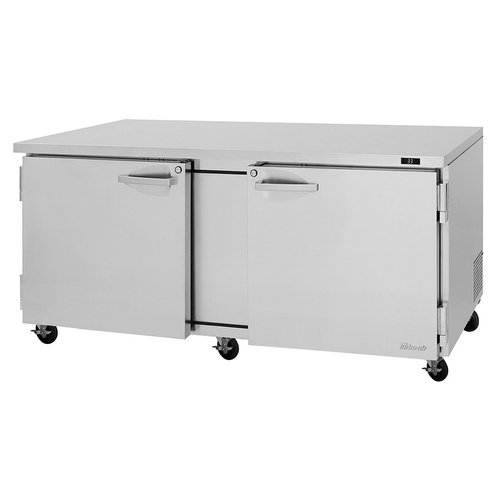 """Turbo Air PUR-72-N(-AL) 72.63""""W Two-Section Reach-In PRO Series Undercounter Refrigerator"""