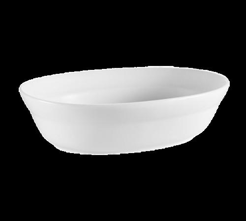 CAC China RCN-VB12  2-3/4 qt  Porcelain  Super White  Oval  Accessories Bowl