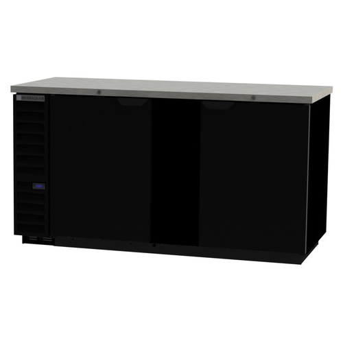 """Beverage Air BB68HC-1-F-S 69""""W Two-Section Solid Door Refrigerated Food Rated Back Bar Storage Cabinet"""