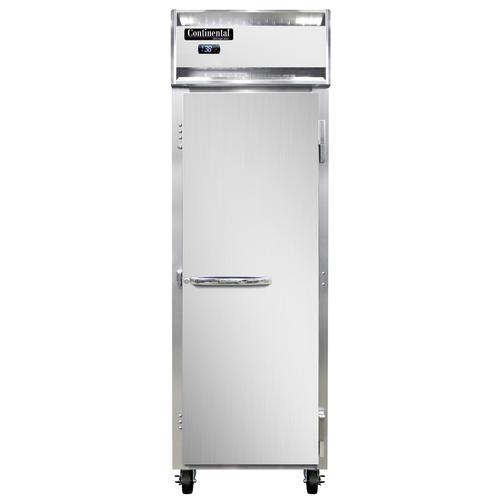 "Continental Refrigerator 1RNSA 26"" W One-Section Glass Door Solid Door Reach-In Refrigerator"