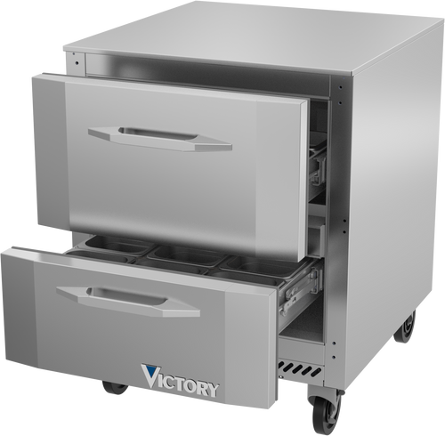 Victory VUFD27HC-2 Undercounter Freezer One-Section 27""