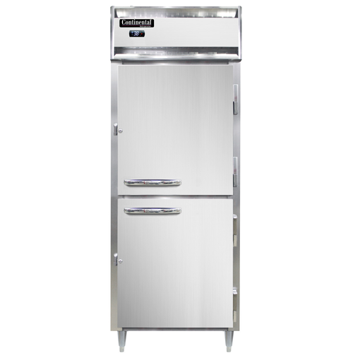 "Continental Refrigerator D1RENSSHD 28.5"" W One-Section Solid Door Reach-In Designer Line Wide Refrigerator"
