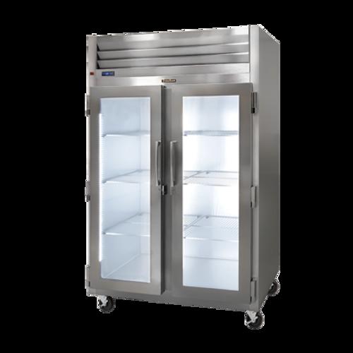 "Traulsen G2100- 52.13"" W Two-Section Glass Door Dealer'S Choice Display Dealer's Choice Display Refrigerator"