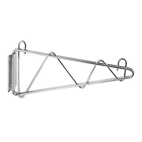 "Winco VCB-21 21"" Chrome Plated Wire Shelf Wall Mounting Brackets"