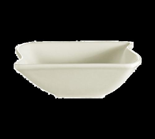 CAC China SOH-76  20 oz  Ceramic  American White  Square  Soho Bowl