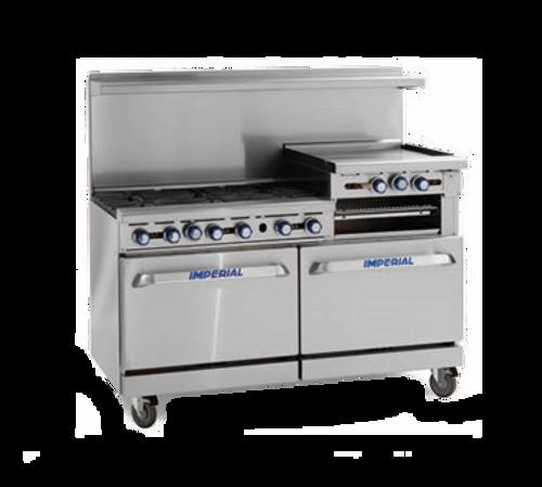 "Imperial IR-6-G36-XB LP 72"" Liquid Propane Pro Series Restaurant Range - 287,000 BTU"