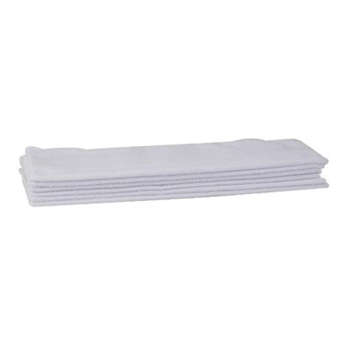 """Winco BTM-16W 16"""" x 16"""" White Bar/Kitchen Towel Set 10 Pack"""