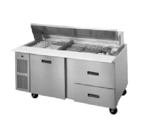 """Randell 9030K-513 48"""" W Two-Section Two Door Reach-In Refrigerated Counter/Salad Mega Top"""