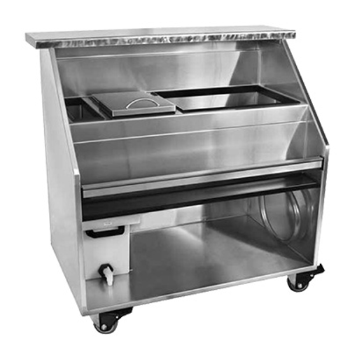 """Glastender PBC60-18 Portable Bar with Stainless Steel Bar Top - 60""""W x 12""""D"""