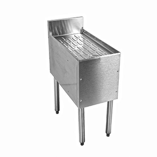 """Glastender C-DBB-30 Stainless Steel CHOICE Underbar Drainboard - 30""""W x 24""""D"""