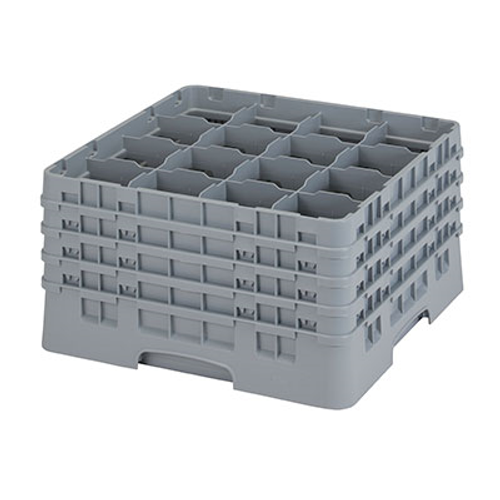 Cambro 16S900151 Camrack Glass Rack With (4) Soft Gray Extenders