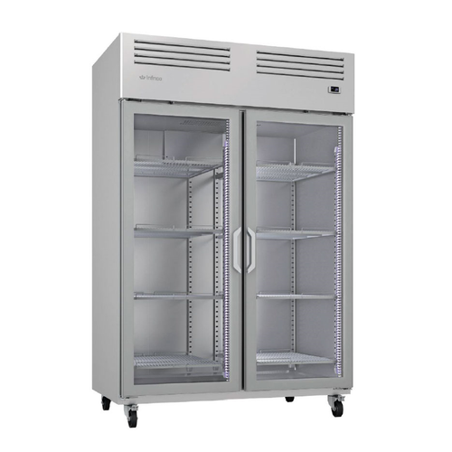 "Infrico USA IRR-AGB49CR 54.5"" W Two-Section Glass Door Reach-In Refrigerator"