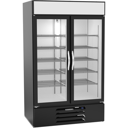 "Beverage Air MMF44HC-1-B 47""W Two-Section Glass Door MarketMax™ Freezer Merchandiser"